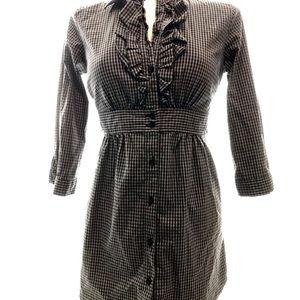 Authentic Naf Naf Gingham Shirt Dress